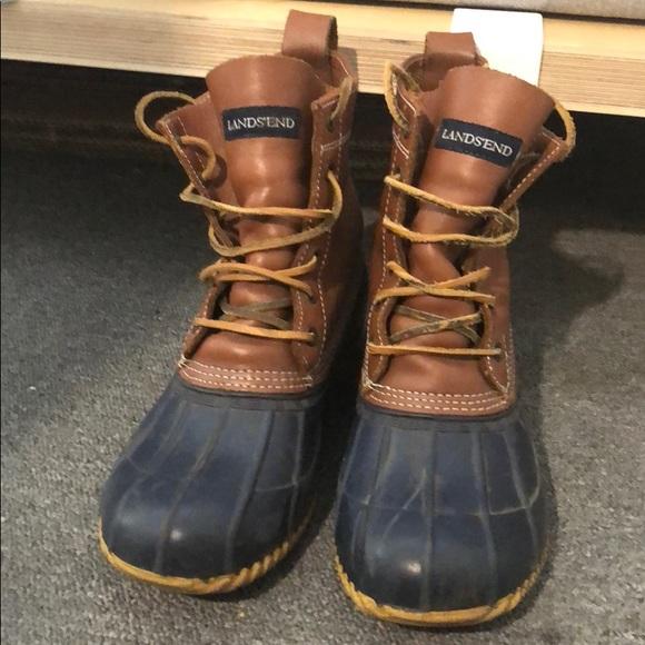 28ba632e1360f Lands End vintage duck boots size 9